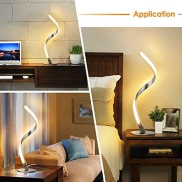 Albrillo Spiral LED Tischlampe aus Aluminium, Moderne 6W Tischleuchte warmweiß mit 1.5 m Kabel Perfekt für Schlafzimmer Wohnzimmer - 7