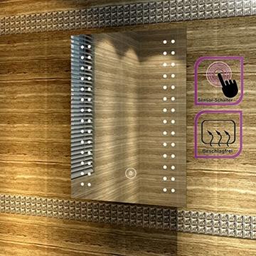 Badspiegel mit energiesparender LED-Beleuchtung kaltweiß IP44 [Energieklasse A+] 50 x 70cm beschlagfrei - 2