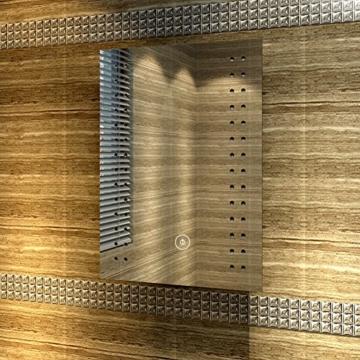 Badspiegel mit energiesparender LED-Beleuchtung kaltweiß IP44 [Energieklasse A+] 50 x 70cm beschlagfrei - 3
