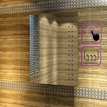 Badspiegel mit energiesparender LED-Beleuchtung kaltweiß IP44 [Energieklasse A+] 50 x 70cm beschlagfrei - 4
