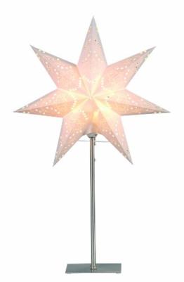 """Best Season Standleuchte Stern""""Sensy Mini 55"""", Metall/Papier, circa 55 x 34 cm, Vierfarb-Karton, crème 234-22 - 1"""