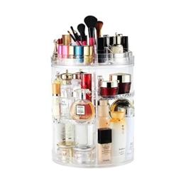 Boxalls Heine Home Beauty-Organizer,Um 360° drehbar Kosmetikbox, großen 8er Contouring Paletten für Dresser, Schlafzimmer, Badezimmer - 1