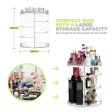 Boxalls Heine Home Beauty-Organizer,Um 360° drehbar Kosmetikbox, großen 8er Contouring Paletten für Dresser, Schlafzimmer, Badezimmer - 4