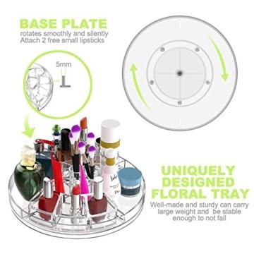 Boxalls Heine Home Beauty-Organizer,Um 360° drehbar Kosmetikbox, großen 8er Contouring Paletten für Dresser, Schlafzimmer, Badezimmer - 5