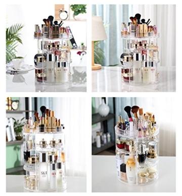 Boxalls Heine Home Beauty-Organizer,Um 360° drehbar Kosmetikbox, großen 8er Contouring Paletten für Dresser, Schlafzimmer, Badezimmer - 7