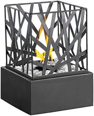 Carlo Milano Tischkamin: Tisch-Dekofeuer Feng Shui mit Steingarten (Feuerstelle) - 1