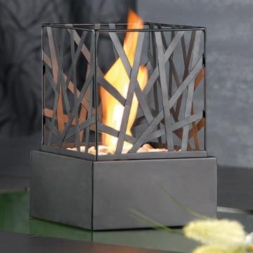Carlo Milano Tischkamin: Tisch-Dekofeuer Feng Shui mit Steingarten (Feuerstelle) - 3