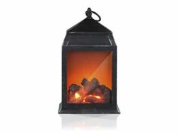 EASYmaxx 05126 LED-Laterne mit Flammen-Optik | Kabellos | Schwarz | 2018-Modell - 1
