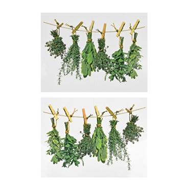 Fenstersticker Kräuter, Herbs, Fensterbilder, Windowsticker, Fensterdeko, Fenster Tattoo, Fensterfolie, Fliesensticker, Fliesenaufkleber, mehrmals - 2