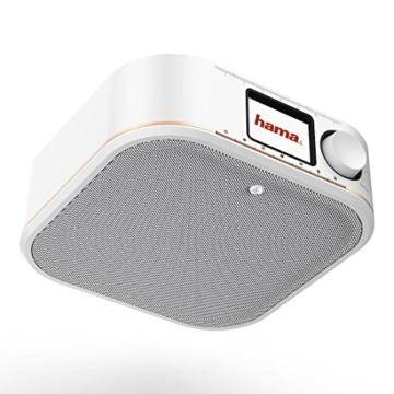 Hama IR350M WLAN Küchen-/Internetradio (Spotify, unterbaufähig, 2,4 Zoll Farbdisplay, WiFi-Streaming, 2 Weckzeiten, Multiroom, Klemmmontage ohne Bohren, gratis Radio-App, Eieruhr) weiß/kupfer - 11