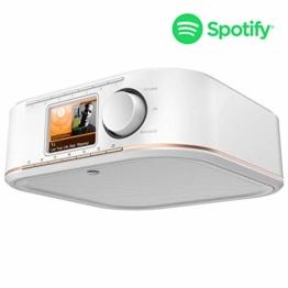 Hama IR350M WLAN Küchen-/Internetradio (Spotify, unterbaufähig, 2,4 Zoll Farbdisplay, WiFi-Streaming, 2 Weckzeiten, Multiroom, Klemmmontage ohne Bohren, gratis Radio-App, Eieruhr) weiß/kupfer - 1