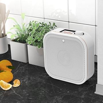 Hama IR350M WLAN Küchen-/Internetradio (Spotify, unterbaufähig, 2,4 Zoll Farbdisplay, WiFi-Streaming, 2 Weckzeiten, Multiroom, Klemmmontage ohne Bohren, gratis Radio-App, Eieruhr) weiß/kupfer - 4