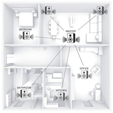 Hama IR350M WLAN Küchen-/Internetradio (Spotify, unterbaufähig, 2,4 Zoll Farbdisplay, WiFi-Streaming, 2 Weckzeiten, Multiroom, Klemmmontage ohne Bohren, gratis Radio-App, Eieruhr) weiß/kupfer - 7