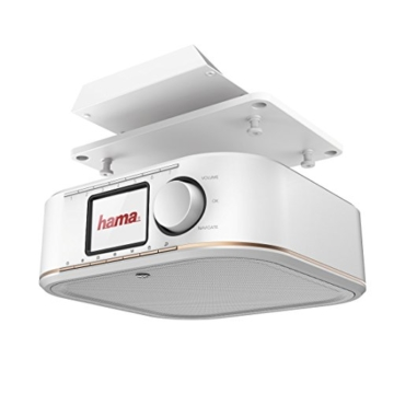 Hama IR350M WLAN Küchen-/Internetradio (Spotify, unterbaufähig, 2,4 Zoll Farbdisplay, WiFi-Streaming, 2 Weckzeiten, Multiroom, Klemmmontage ohne Bohren, gratis Radio-App, Eieruhr) weiß/kupfer - 9