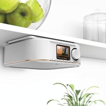 Hama IR350M WLAN Küchen-/Internetradio (Spotify, unterbaufähig, 2,4 Zoll Farbdisplay, WiFi-Streaming, 2 Weckzeiten, Multiroom, Klemmmontage ohne Bohren, gratis Radio-App, Eieruhr) weiß/kupfer - 10