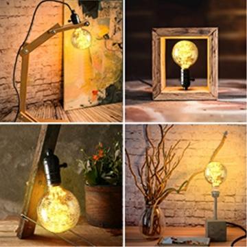 KINGSO LED E27 3W Edison Lampe Vintage Retro Stil Glühbirne 2300K Deko Glühlampe mit Zertifikat Warmweiß - 3