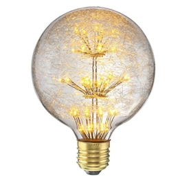 KINGSO LED E27 3W Edison Lampe Vintage Retro Stil Glühbirne 2300K Deko Glühlampe mit Zertifikat Warmweiß - 1