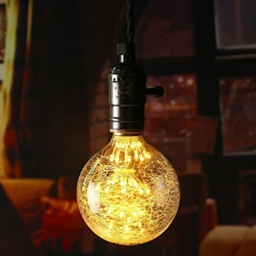 KINGSO LED E27 3W Edison Lampe Vintage Retro Stil Glühbirne 2300K Deko Glühlampe mit Zertifikat Warmweiß - 5