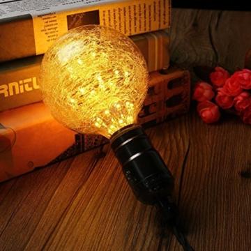 KINGSO LED E27 3W Edison Lampe Vintage Retro Stil Glühbirne 2300K Deko Glühlampe mit Zertifikat Warmweiß - 6
