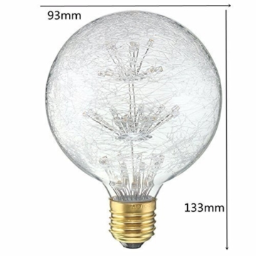 KINGSO LED E27 3W Edison Lampe Vintage Retro Stil Glühbirne 2300K Deko Glühlampe mit Zertifikat Warmweiß - 7