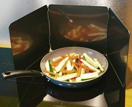 Küchen Antihaft Spritzschutz | Spülmaschinengeeignet | drei Elemente je 25 x 23 cm | Metall - 1