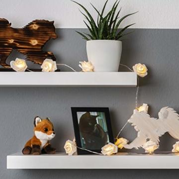LED Rosen Lichterkette - 5 Meter Gesamtlänge | 20 LEDs warm-weiß - kein lästiges austauschen der Batterien | NICHT batterie-betrieben sondern mit Netzstecker | von CozyHome - 7
