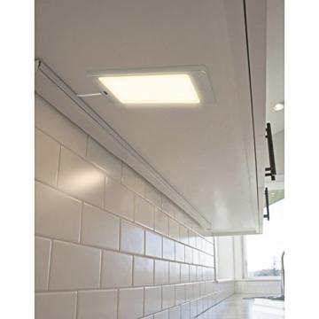 LED Unterbauleuchte Unterschrankleuchte Küche Flach 5W mit Berührungsloser Sensor Schalter Hohe Helligkeit 450Lm Beleuchtung Neutralweiß 4000K 1er Lampe und 1er Netzteil von Enuotek - 3