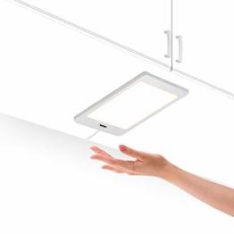 LED Unterbauleuchte Unterschrankleuchte Küche Flach 5W mit Berührungsloser Sensor Schalter Hohe Helligkeit 450Lm Beleuchtung Neutralweiß 4000K 1er Lampe und 1er Netzteil von Enuotek - 1