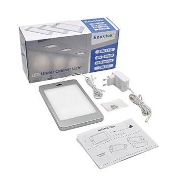 LED Unterbauleuchte Unterschrankleuchte Küche Flach 5W mit Berührungsloser Sensor Schalter Hohe Helligkeit 450Lm Beleuchtung Neutralweiß 4000K 1er Lampe und 1er Netzteil von Enuotek - 8