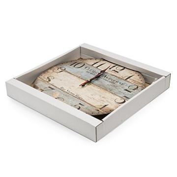 LOHAS Home 12 Zoll/30CM Holz Wanduhr/Küchenuhr im Landhausstil Stille Nicht-tickende für die Küche,Home Office, Wohnzimmer und Schlafzimmer (Victor Hugo) - 6