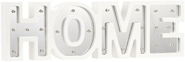 Lunartec Dekobuchstaben: LED-Schriftzug Home aus Holz & Spiegeln mit Timer & Batteriebetrieb (Deko-Buchstabe im Vintage Style) - 7