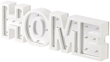 Lunartec Dekobuchstaben: LED-Schriftzug Home aus Holz & Spiegeln mit Timer & Batteriebetrieb (Deko-Buchstabe im Vintage Style) - 8