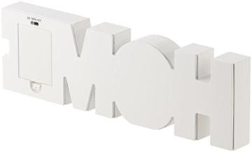Lunartec Dekobuchstaben: LED-Schriftzug Home aus Holz & Spiegeln mit Timer & Batteriebetrieb (Deko-Buchstabe im Vintage Style) - 9