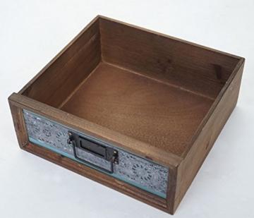 Mendler Apotheker-Schrank HWC-A43, Kommode, Tanne Holz massiv Vintage Patchwork 78x55x35cm - 7