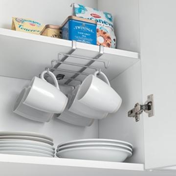 Metaltex 364928039 My Mug Schrankeinsatz Tassenhalter für 10 Tassen - 4