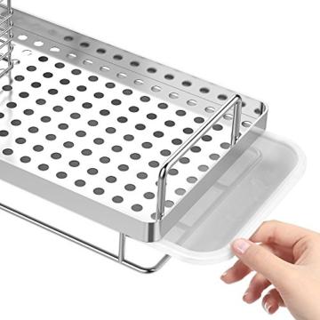 Oriware Spülbecken Organizer für die Küche Caddy Ordnungshelfer Küchenutensilienhalter Rostfreier Edelstahl – 25 x 15 x 15 cm - 4