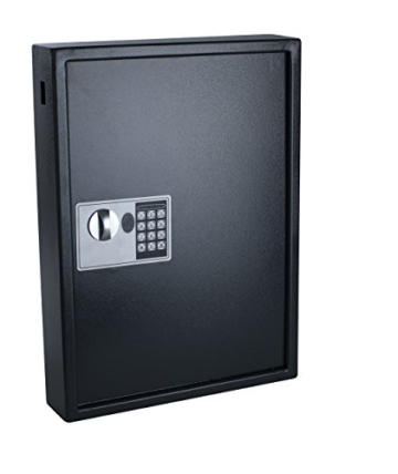 Pavo 8033911 Schlüssel-Kasten/Schrank/Tresor, High security mit elektronische Sicherung, 50 Haken mit seitlichem Schlüsseleinwurf, dunkelgrau - 2