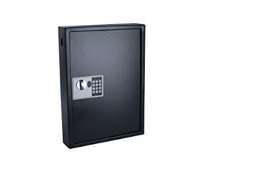 Pavo 8033911 Schlüssel-Kasten/Schrank/Tresor, High security mit elektronische Sicherung, 50 Haken mit seitlichem Schlüsseleinwurf, dunkelgrau - 3