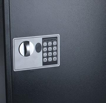 Pavo 8033911 Schlüssel-Kasten/Schrank/Tresor, High security mit elektronische Sicherung, 50 Haken mit seitlichem Schlüsseleinwurf, dunkelgrau - 4