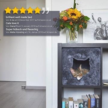 PetPäl Katzenhöhle für Regal | Design Katzen Kuschelhöhle Inklusive Kissen | Für Den Wohligen Schlafplatz Deiner Katze | Ideales Katzenbett für Regale wie IKEA Kallax & Expedit - 2
