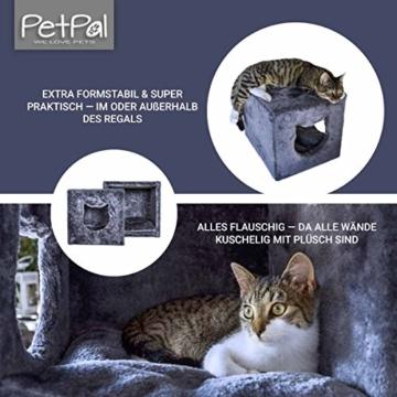 PetPäl Katzenhöhle für Regal | Design Katzen Kuschelhöhle Inklusive Kissen | Für Den Wohligen Schlafplatz Deiner Katze | Ideales Katzenbett für Regale wie IKEA Kallax & Expedit - 3