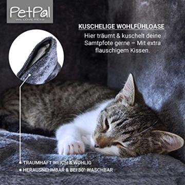 PetPäl Katzenhöhle für Regal | Design Katzen Kuschelhöhle Inklusive Kissen | Für Den Wohligen Schlafplatz Deiner Katze | Ideales Katzenbett für Regale wie IKEA Kallax & Expedit - 4