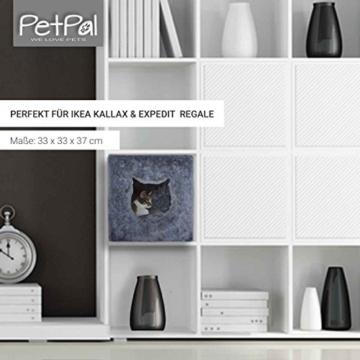 PetPäl Katzenhöhle für Regal | Design Katzen Kuschelhöhle Inklusive Kissen | Für Den Wohligen Schlafplatz Deiner Katze | Ideales Katzenbett für Regale wie IKEA Kallax & Expedit - 5