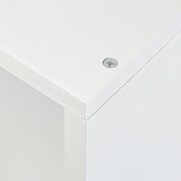 Relaxdays Freischwebend, Dekorativ, Zum Aufhängen, Kinderzimmer, Modernes Design, MDF, Weiß Eck Wandregal, 2er Set, Holz, 30 x 60 x 30 cm - 4