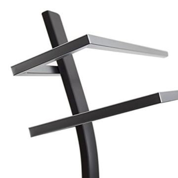 Relaxdays Handtuchständer GRAO H x B x T: 85 x 40 x 20 cm Handtuchhalter stehend mit 2 Armen & verchromten Handtuchstangen in Edelstahl Optik, moderner Badetuchhalter elegant und stilvoll, anthrazit - 7