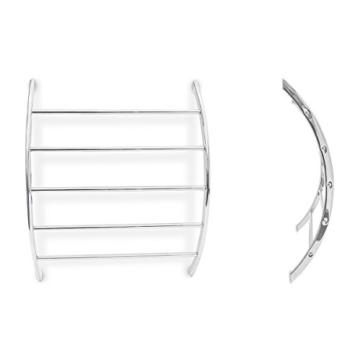 Relaxdays Wand-Handtuchhalter mit 5 Stangen HxBxT: 70 x 56,5 x 15,5 cm Badetuchhalter aus verchromtem Stahl mit 5 Handtuchstangen als Ablage für Badetücher und Badesachen in modernem Design, silber - 4