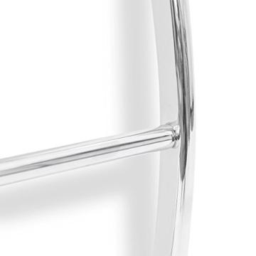Relaxdays Wand-Handtuchhalter mit 5 Stangen HxBxT: 70 x 56,5 x 15,5 cm Badetuchhalter aus verchromtem Stahl mit 5 Handtuchstangen als Ablage für Badetücher und Badesachen in modernem Design, silber - 5