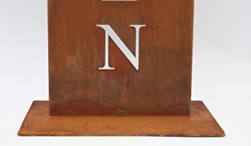 Rostikal Willkommen Ständer, Rost Schild, Dekoration für Hauseingang in Edelrost Eingangsschild - 5
