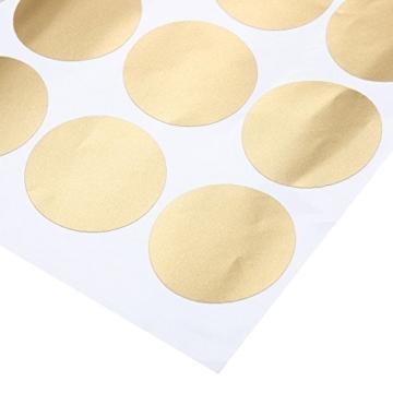 Slivercolor Gold Punkt Aufkleber,Herausnehmbarer Dot Aufkleber,Wandtattoo Punkte für Kinderzimmer Deko, 1,2 Zoll, 216 Punkte - 3