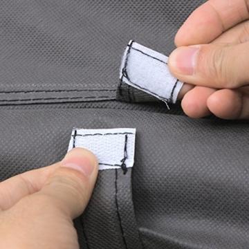 SONGMICS Kleiderschrank XXL 175 x 150 x 45 cm Faltschrank Stoffschrank mit Kleiderstange grau LSF03G - 9